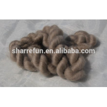 Supply 100% Mongolian cashmere top brown 16.5mic 44mm