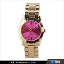 gold color womans bracelet watch