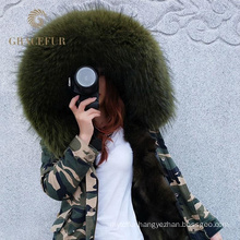 Complete production line winter fur parka designer with fur lining
