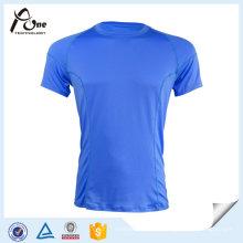 T-shirt de base de sports fait sur commande d'hommes courir l'usage