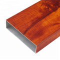 Wood+Grain+Aluminum+Square+Profile+Tube+For+Decoration