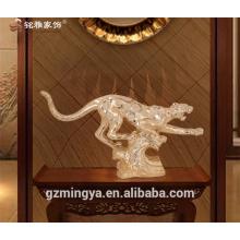Guangzhou Kunst Handwerk liefert Harz antike Tiger Statue für Wohnkultur