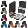 Mens Genuine Leather Slim Wallet ID Credit Money Clip Card Holder