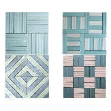 Anti-Slip Eco Friendly Interlocking Composite DIY Tiles WPC Co-Extrusion Outdoor Decking Tiles