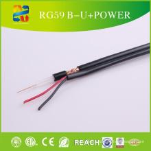 Système d'appareil photo de sécurité de l'alimentation CCTV Câble Siamois Rg59