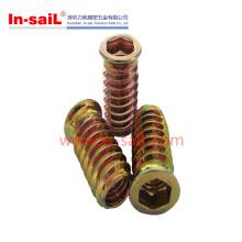 Steel Zinc Plated External Thread Wood Insert Lock Nut Manufacturer