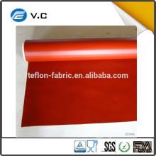 Easy Clean Resistente ao calor 0,30 mm tamanho personalizado vermelho preto branco cinza prata silicone revestido pano de tecido