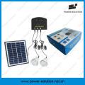 Système solaire de mini maison de Shenzhen LED avec le panneau solaire de 11V 4W et le chargeur de téléphone d'USB