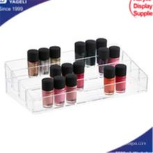 Acrílico claro organizador de cosméticos con dibujos, organizador de uñas