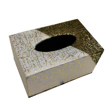 Boîte à tissus en similicuir Rectangle créative pour chambre