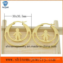 Shineme Jewelry High Quality Stainless Steel Plating Gold Earring (ERS6976)