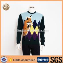 Mode en gros tricoté 100% pull en laine