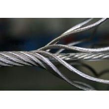 Cable de acero, Cable de acero, Alambre de acero galvanizado Rop 7X7 Diámetro 10mm