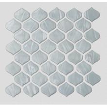 Стеклянная мозаика из белого камня для кухни