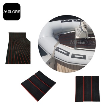 Melors Rot Schwarz Synthetic Faux Teak Marine Sheet