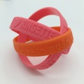 Cute Promotional Embossed Silicone Wristbands