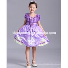 Disfraz de sophia venta caliente vestido de niña princesa vestido para fiesta de los niños