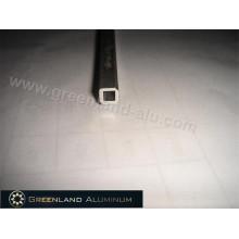 Наклонный стержень из алюминиевого профиля для вертикальных жалюзи, анодированный серебряный полый квадратный стиль