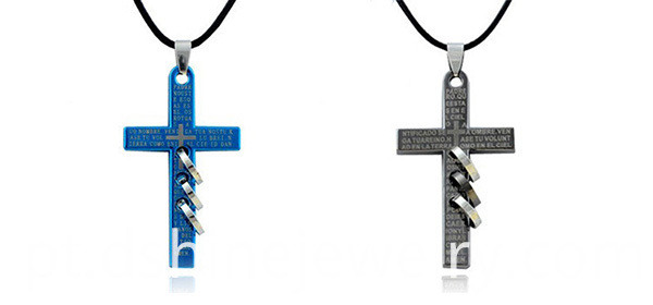 Man Cross Necklace