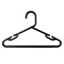 Children plastic black wholesale hangers for clothes