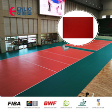 BWF approved synthetic vinyl badminton sports court floor Indoor Sports flooring playground shock pad for artificial grass