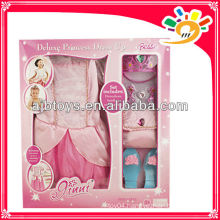 Party dress up for girls,baby girl party dress with shoes,imperial crown,handbag