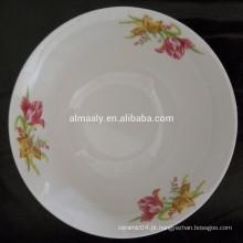 Venda quente de utensílios domésticos tigela de cerâmica com decalque