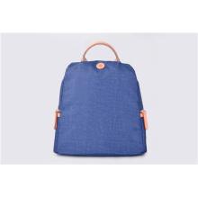 Blauer Vintage Nylon Rucksack Unisex Casual Bookbag