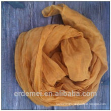 Solid color crumple polyester fabric for scarf