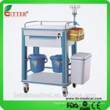 Trolley acessível de tratamento de alumínio e ABS