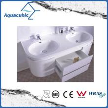 Sanitaryware Polymarble Double Bowl Bathroom Basin Acb1210A