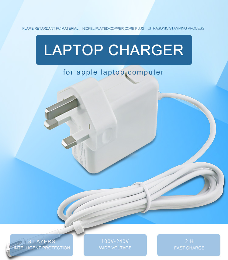 85w l connector uk plug wall adapter for apple notebook