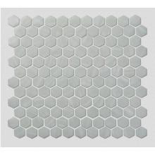 White Glass Mosaic Tiles For Modern Minimalist Kitchen