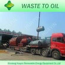 300T Planta de pirólisis plástica de la basura de la casa de la basura sólida municipal al aceite