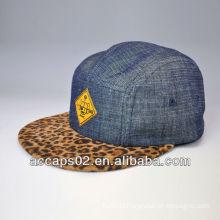 leopard print 5 panel hat