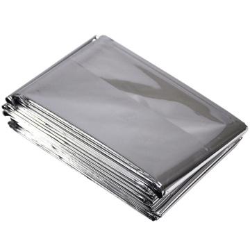 Couvertures thermiques d'urgence de survie en papier d'aluminium