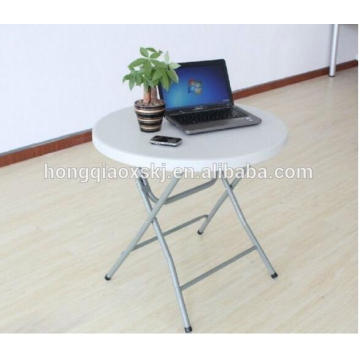 Small Plastic Folding Round Table, Portable Computer Desk Folding Table, Cheap White Round Dining Table, Balcony Folding Table