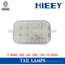 Venta caliente E-MARK LED luz de remolque IP67 camión de la lámpara de cola lámpara de respaldo impermeable para camión y remolque
