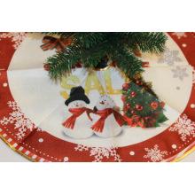 Falda de árbol de artesanía decorativa para fiesta