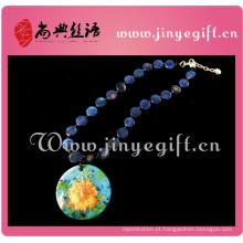 Jóias naturais Handmade Shell Pendant Old Fashion Necklace