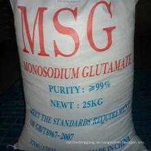 Niedrigster Preis Mononatrium Glutamat 99% mit hoher Qualität
