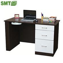 corner wooden bookcase with computer desk