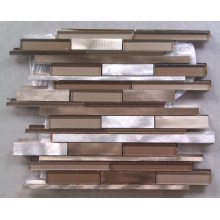 Strip Aluminum and Glass Mosaic Tile (HGM385)
