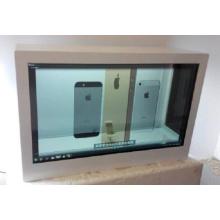 """32 """"écran tactile transparent vitrine LCD"""