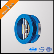 PN16 ductile iron hydraulic resilient rubber butterfly type check valve