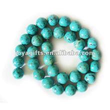 12MM rodada turquesa pedra jóias Beads