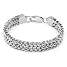 Stainless Steel Polished 12MM Wide Double Raw Franco Link Chain Bracelet