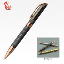 Moda design laser gravura bola caneta de luxo escritório papelaria caneta em vender