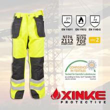 Calças de poliéster de algodão reflexivo resistente ao fogo com boa wearability Cor de referência