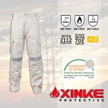 qualidade superior fr resistente ao óleo e calças à prova d'água com en11611 para o trabalhador